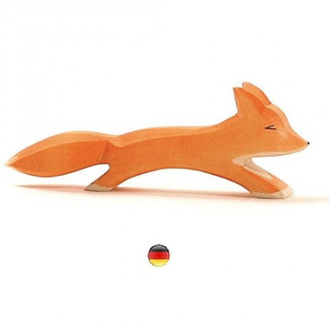 renard, figurine animal, jouet en bois artisanal steiner waldorf Ostheimer