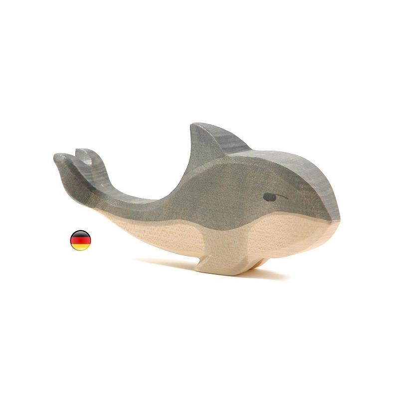 Baleine, figurine jouet en bois ecologique et ethique waldorf steiner de ostheimer