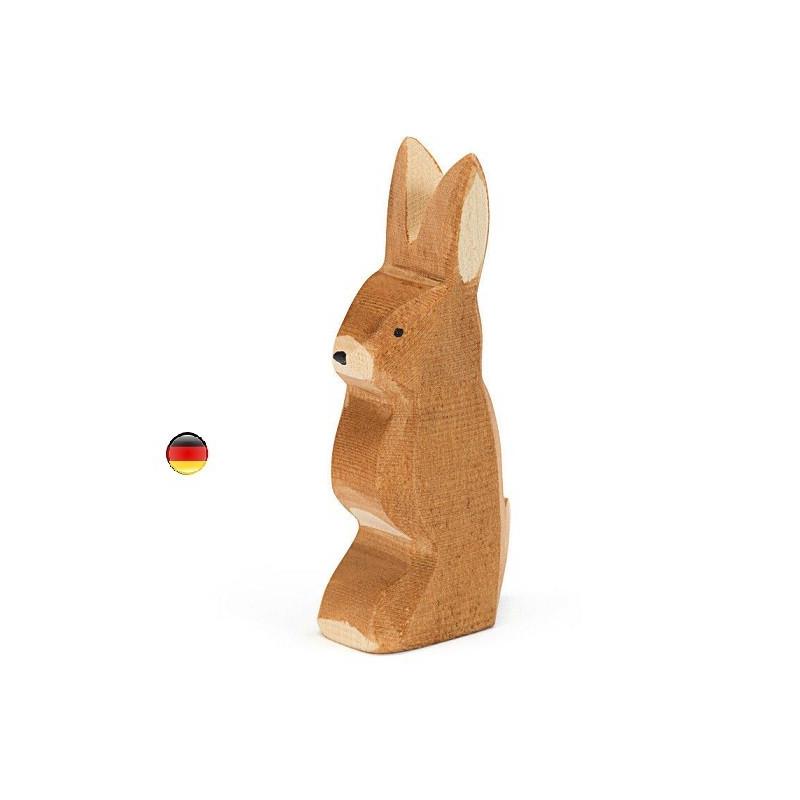 Lapin debout, figurines animal jouet en bois ecologique steiner waldorf de ostheimer