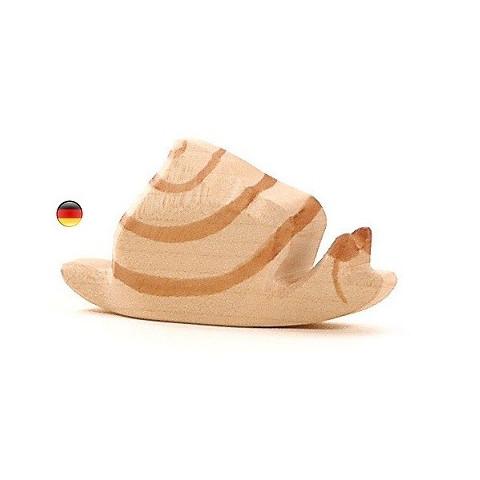 Figurine escargot, animal en bois, jouet waldorf steiner de ostheimer alsace