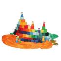 Cubes grande Mosaïque en bois, jeu de construction Grimm's