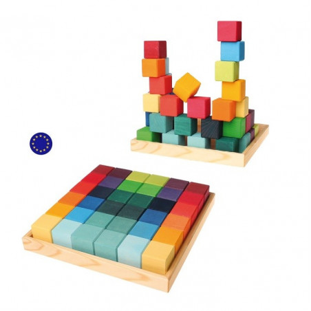 Cubes Mosaïque arc en ciel, Grimm's