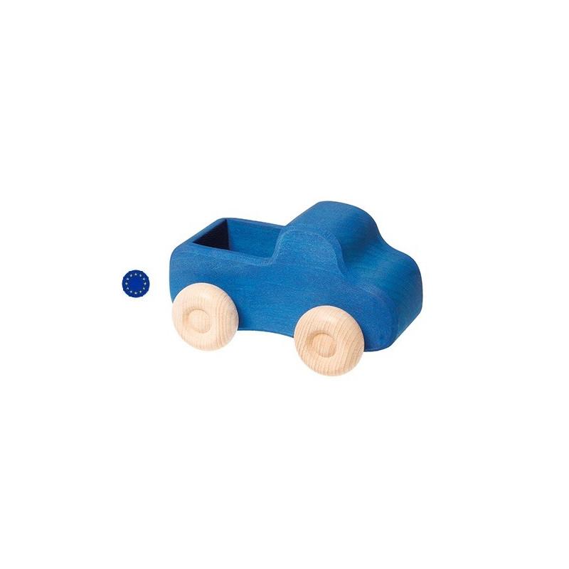 Camion bleu, jouet en bois ecologique et ethique de Grimm's
