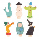 Figurine décorative personnage en bois, Grimm's