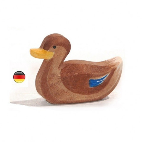 Figurine canard nageant  Ostheimer
