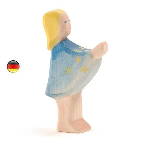 Fille aux étoiles, sterntaler figurine jouet en bois steiner waldorf Ostheimer