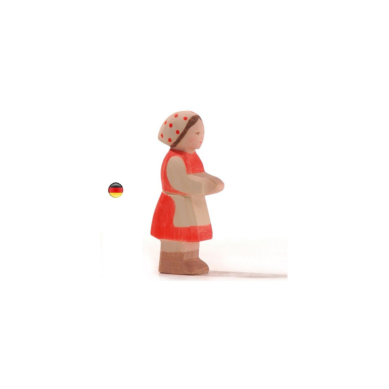 Fille Heidi figurine jouet en bois ecologique et ethique steiner waldorf Ostheimer