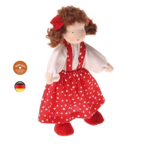 Poupée articulée fille brune, mini poupée flexible waldorf Grimm's