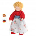 Poupée articulée maman blonde, mini poupée flexible waldorf Grimm's