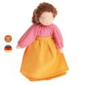Poupée articulée maman brune, mini poupée flexible waldorf Grimm's