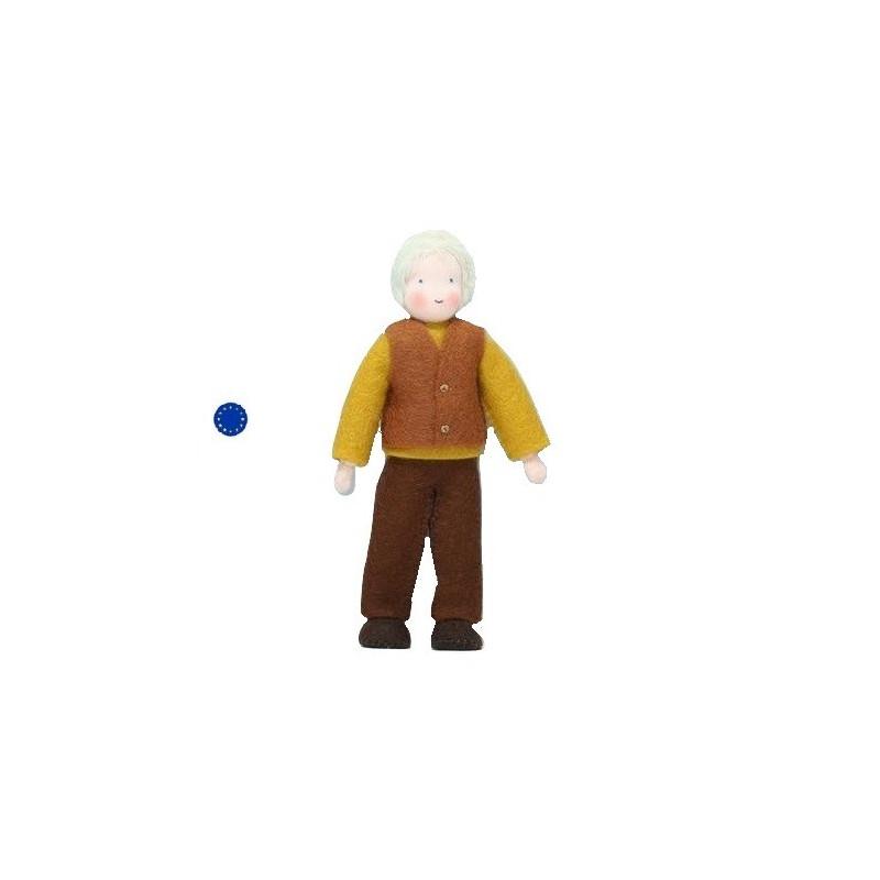 Poupée articulée papi, papy grand père, mini poupée flexible waldorf Grimm's