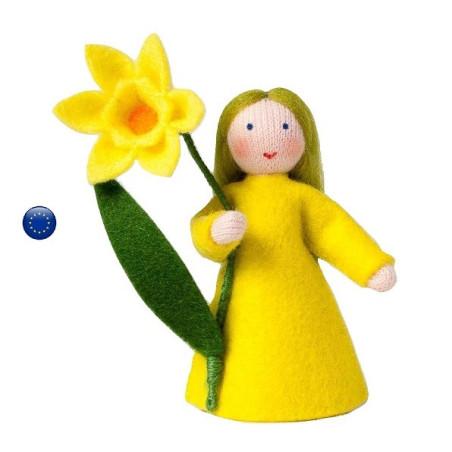Poupée avec fleur Narcisse