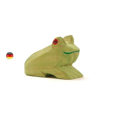 Figurine grenouille, animal jouet en bois ecologique steiner waldorf de Ostheimer