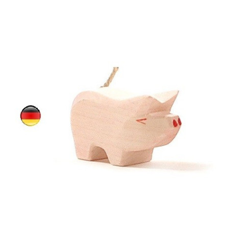 Figurine porcelet cochon, animal en bois