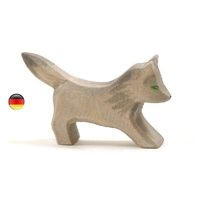 Figurine louveteau, loup, animal, jouet en bois steiner waldorf Ostheimer