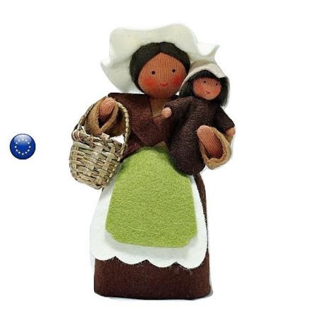 Grand mère terre, poupée waldorf
