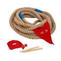Tir à la corde, jeu equipe exterieur pour anniversaire, en bois de legler