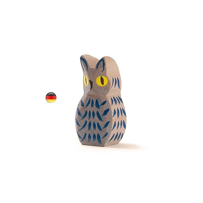 Chouette, hibou, figurine jouet en bois jouet waldorf steiner,ostheimer