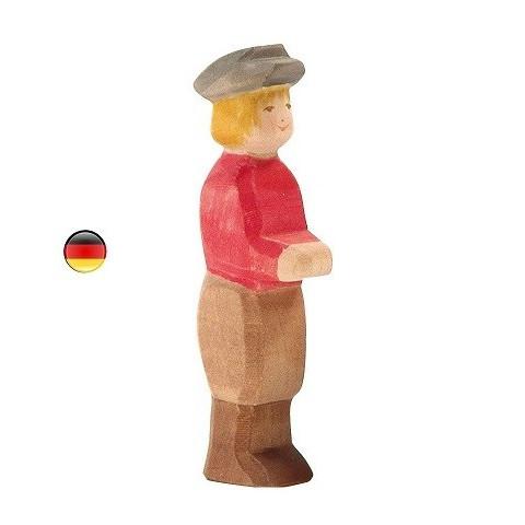Garçon, Famille de personnages, figurine en bois waldorf steiner. jouet écologique, éthique,  ostheimer