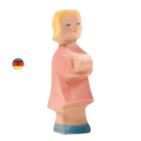 Fille, Famille de personnages, figurine en bois waldorf steiner. jouet écologique, éthique,  ostheimer