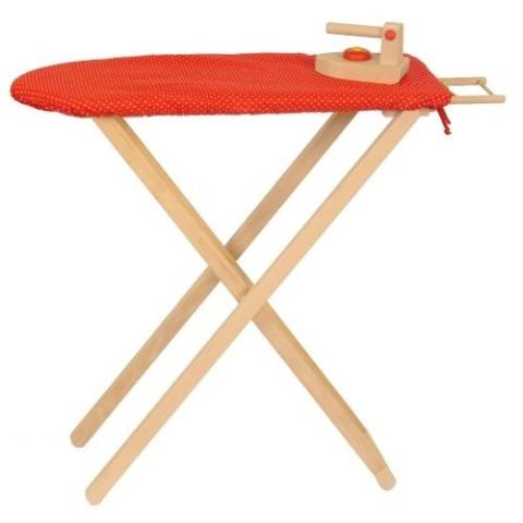 planche et fer à repasser, jouet d'imitation en bois ecologique et éthique,  waldorf steiner Drewart