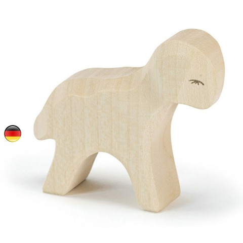 Figurine agneau, animal en bois