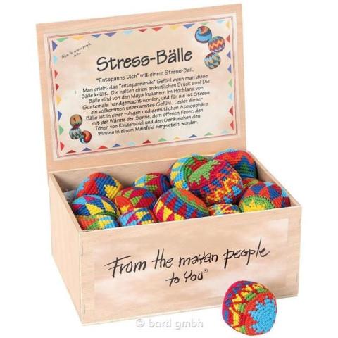 Balle de jonglage maya, coton crocheté