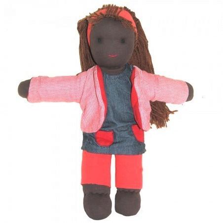 Poupée waldorf 30 cm noire, Rosie