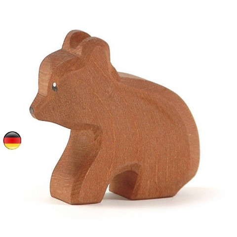 Figurine ourson, animal en bois