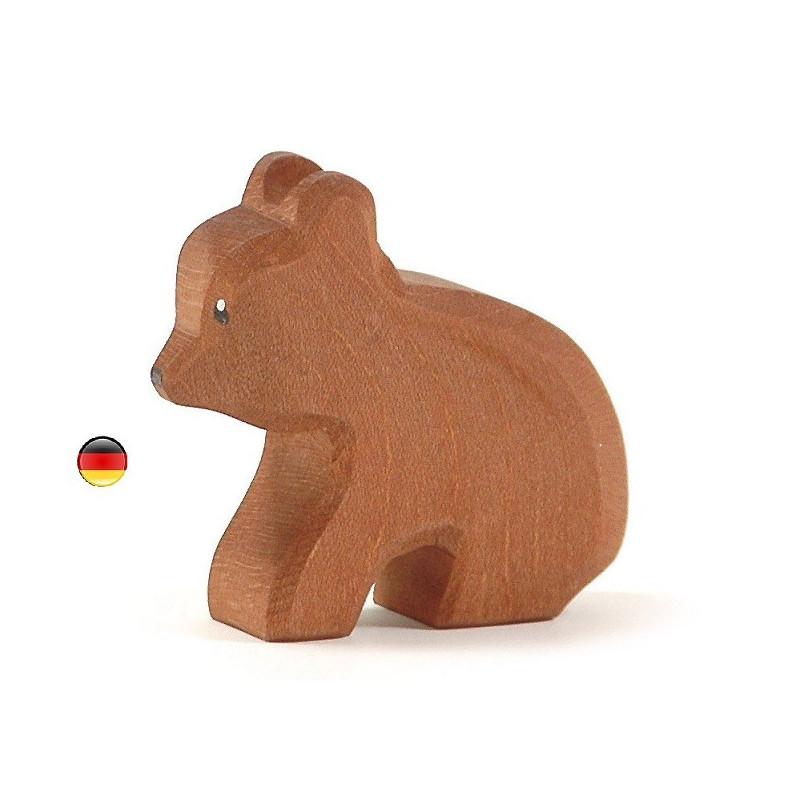 Figurine ourson, animal en bois, jouet ostheimer