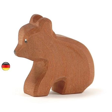 Figurine ourson, animal en bois