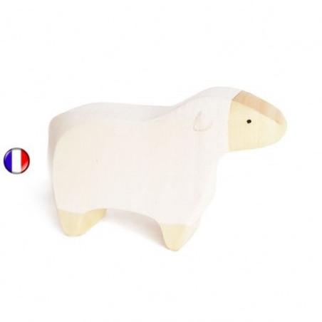 Figurine mouton, animal en bois