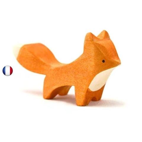 Figurine renard, animal en bois steiner waldorf de brin d'ours