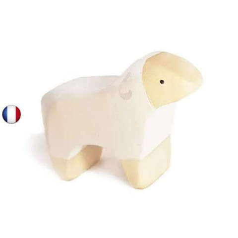 Figurine agneau, animal jouet en bois steiner waldorf de brin d'ours