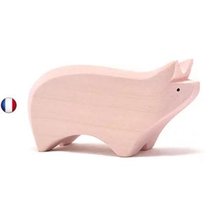 Figurine cochon en bois