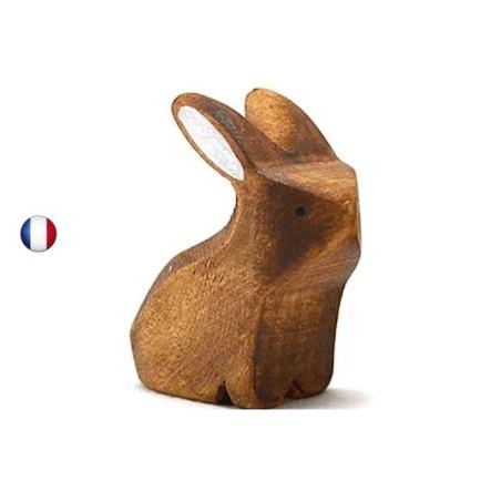 Figurine lapin brun assis