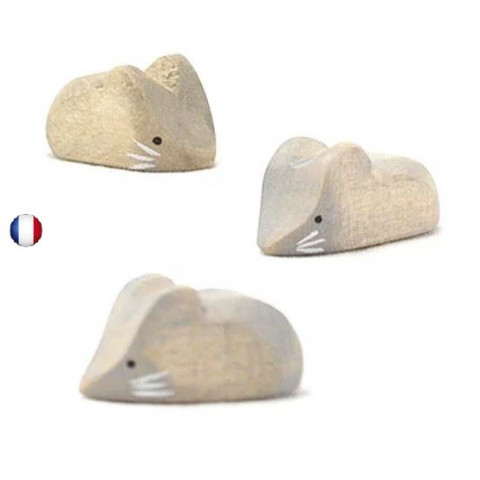 Figurine souris jouet en bois steiner waldorf de brin d'ours