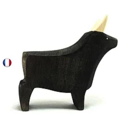 Figurine taureau noir