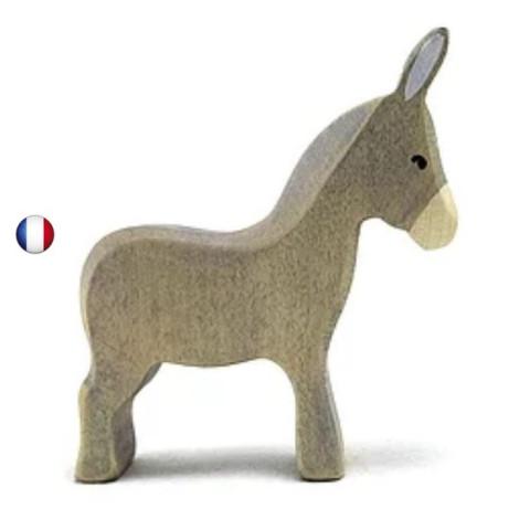 Figurine âne, animal en bois steiner waldorf de Brin d'ours