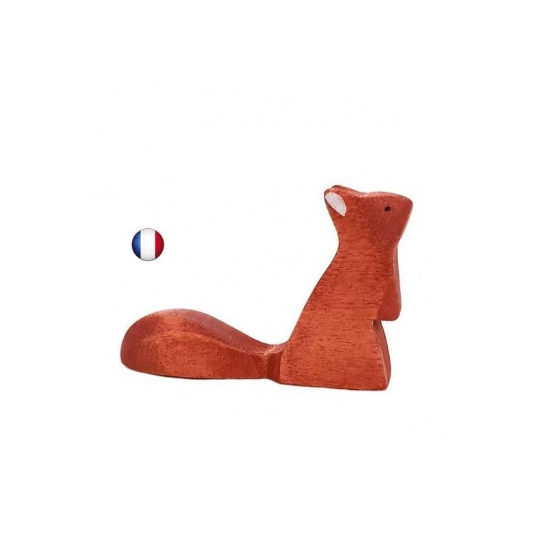 Figurine ecureuil debout, jouet en bois steiner waldorf ostheimer de brin d'ours
