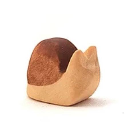 Figurine escargot jouet en bois steiner waldorf ostheimer de brin d'ours
