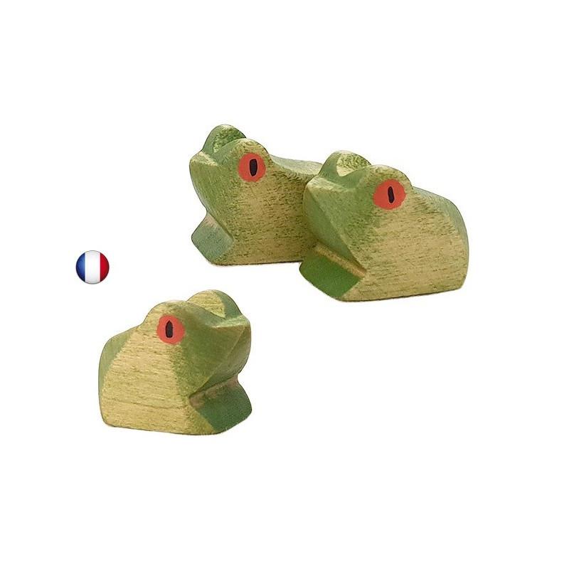 Figurine grenouille jouet en bois steiner waldorf ostheimer de brin d'ours