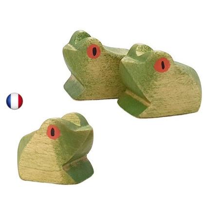 Figurine grenouille en bois