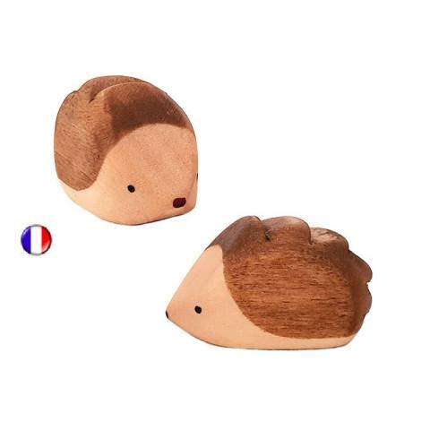 Figurine herisson, jouet en bois steiner waldorf ostheimer de brin d'ours
