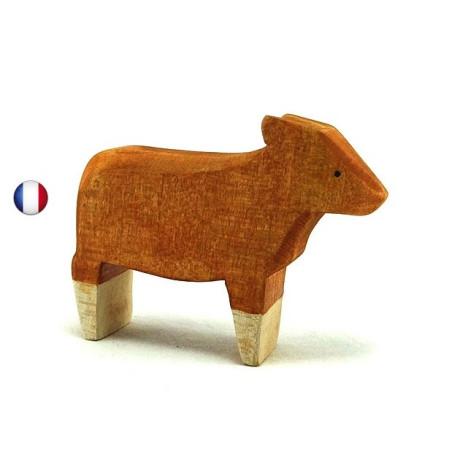 Figurine veau roux