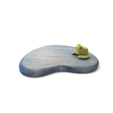 Mare, étang decor en bois pour jeu et table de saison Brin d'ours