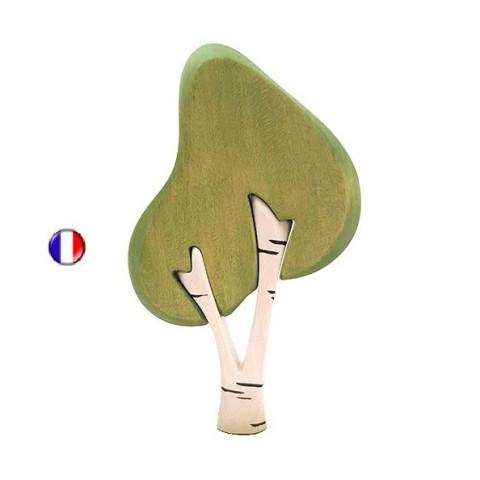 Bouleau vert, arbre décor en bois steiner waldorf de Brin d'ours