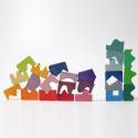 Puzzle concave convexe, geometrie jouet en bois ecologique et ethique de grimm's