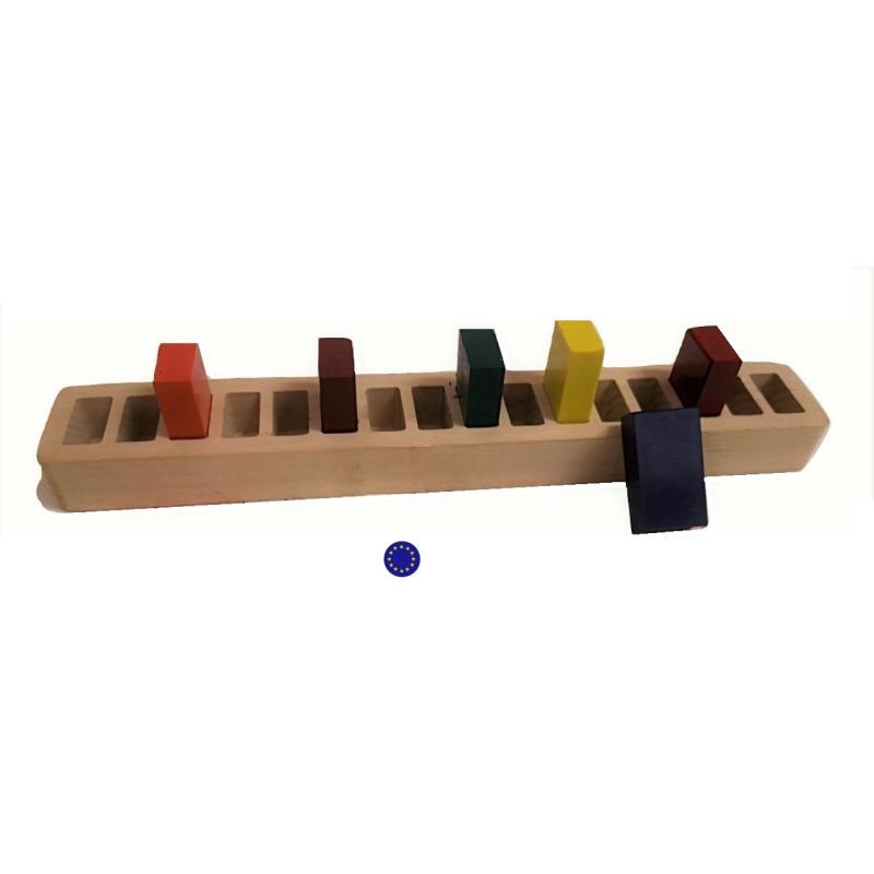 Support rangement en bois 16 blocs de cire stockmar mercurius
