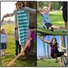 Slackline enfant, jeu d' équilibre funambule